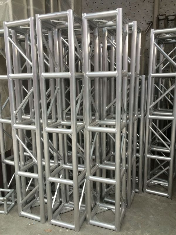 Stage Screw Aluminum Square Truss , Silver Tube Truss System
