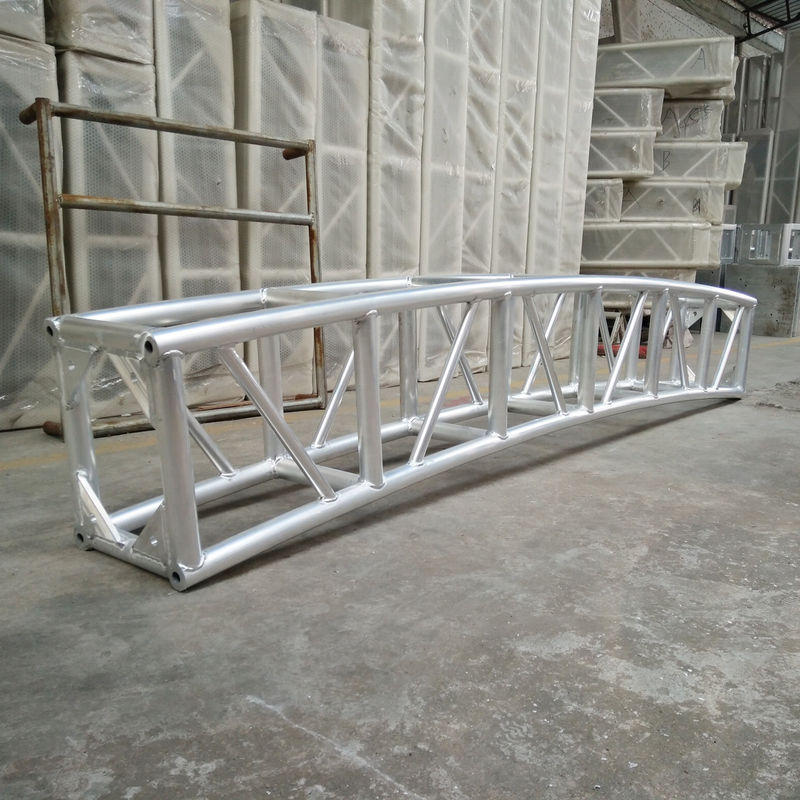 350 * 450mm Aluminum Curved Lighting Screw Truss For Outdoor Show