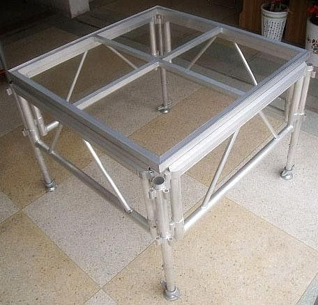 Glass Acrylic Stage Platform / Folding Aluminum Stage Platform