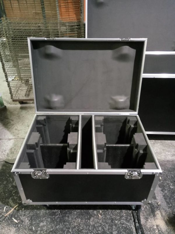 Full Black Color 9mm Thinkness Plywood Customized Aluminum Tool Cases For Sound Console / Speaker Case