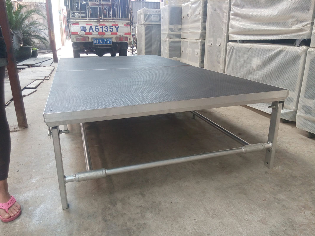 Portable Aluminum Movable Stage Platform 18mm Plywood Board And Aluminum Frame